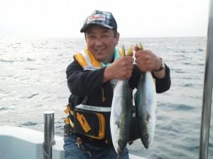 生田さんハマチ50cm
