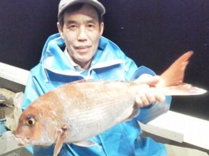 永井さんの55cm鯛