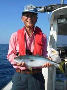 菱田さんメジロ60cm