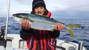 中島さんのヒラマサ73cm