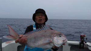 船長上野のタイ60cm