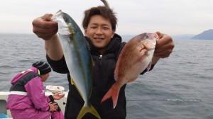 岩村さんのタイとヒラマサ