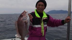 浜田さんのタイ52cm