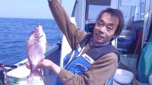中田さんのタイ43cm