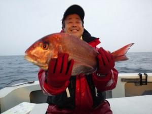前田さんのタイ50cm