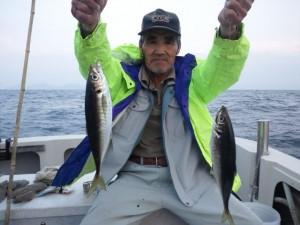 田原さんのアジ45cm