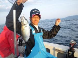 廣田さんのアジ40cm