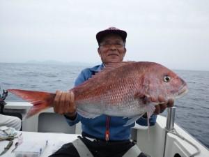 小西さんの大鯛74cm おめでとうございます!