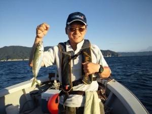 遠藤さんのアジ37cm