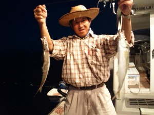 島本さんのアジ40cm