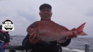 船長上野の真鯛63cm